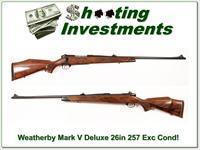 Weatherby Mark V Deluxe 257 Wthy Mag 26in
