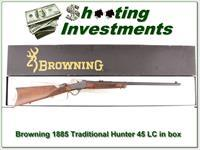 Browning 1885 Traditional Hunter 45 LC NIB