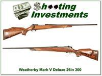 Weatherby Mark V Deluxe 300 Wthy Mag XX Wood 26in!