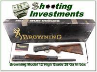 Browning Model 12 28 Gauge High Grade AS NEW in BOX!