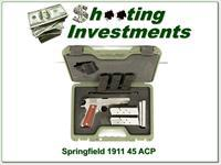 Springfield 1911 A1 1911 Mil-Spec SS 45 8 Magazines!
