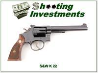 Smith & Wesson K 22 Pre-17 22LR 6in Blued