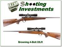 Browning A-Bolt 22LR nice wood 3-9 scope