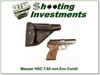 Mauser HSC 7.65mm Fine Cond with holster!