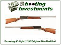 Browning A5 Light 12 50's Belgium 28in Modified