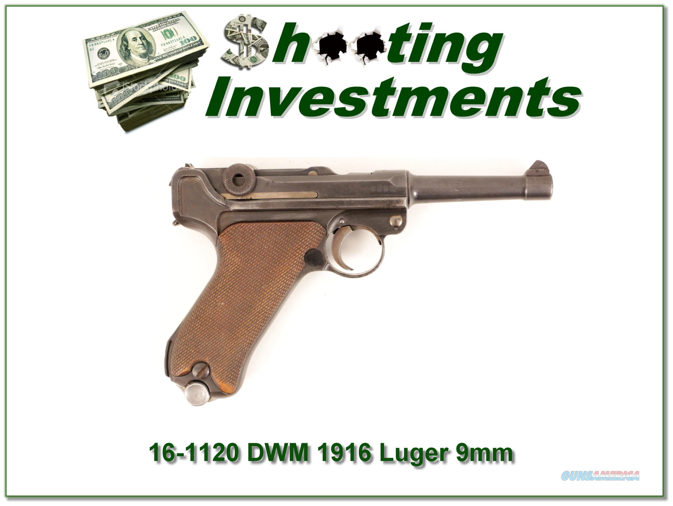 German DWM Luger made in 1916 9mm Exc cond