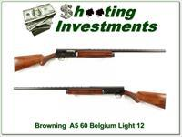 Browning A5 Light 12 60 Belgium Vent Rib
