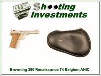 Browning 380 Renaissance 74 Belgium as new!
