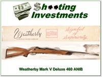 Weatherby Mark V Custom Deluxe 460 as new in box!