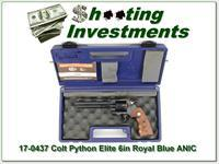 Colt Python Elite Custom Shop 6in Royal Blue NIC