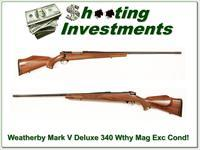 Weatherby Mark V Deluxe 340 Wthy Mag Exc Cond!
