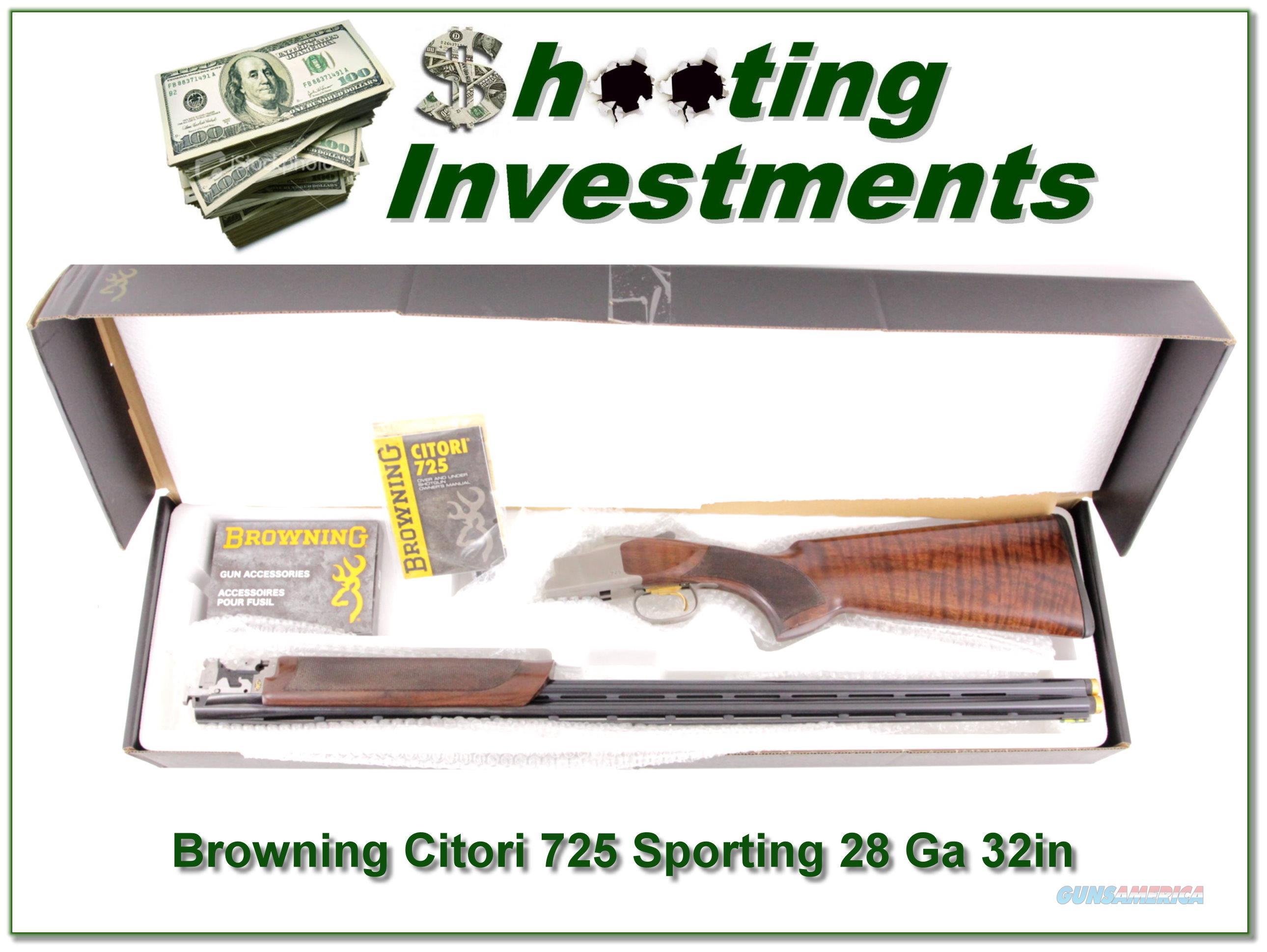 Browning Citori 725 Sporting 28 Gauge 32in in box!