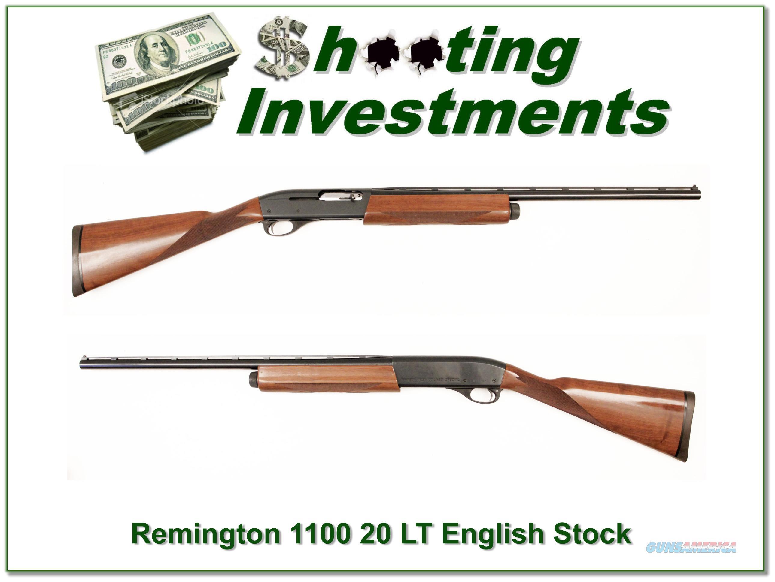 Remington 1100 LT 20 Gauge English Stock Exc Cond!
