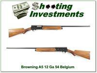 Browning A5 12 Gauge 54 Belgium 30in Full