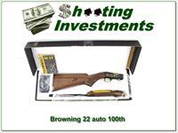 Browning 22 Auto 100 Year 22 LR Octagonal High Grade 100 made!