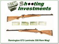 Remington Model 673 350 Rem Mag Laminate 4 boxes ammo!