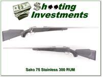 Sako 75 All-Weather Stainless 300 RUM RARE!