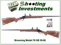 Browning Model 78 30-06 Heavy Barrel XX Wood!
