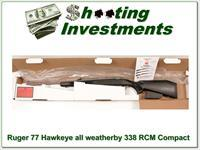 Ruger 77 Hawkeye 338 RCM Stainless all-weather Compact ANIB