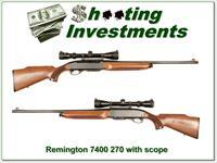 Remington 7400 with scope in 270 Winchester