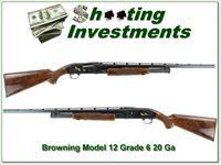 Browning Model 12 High Grade, Grade 5 20 XX Wood