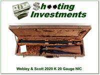 Webley & Scott 2020 K 20 Gauge SxS new and unfired!