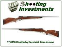 Weatherby Mark V Euromark 7mm Wthy as new!