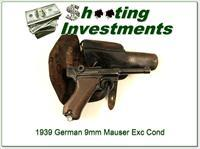 German Luger Mauser 9mm 1939 Holster!