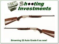 Browning 22 Auto Grade II 1982 near new!