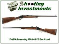 Browning 1885 in 45-70 Exc Cond great wood!