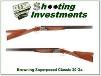 Browning Superposed Classic 20 Gauge