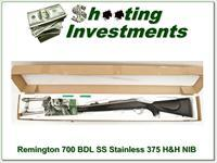 Remington 700 Stainless Synthetic BDL 375 H&H