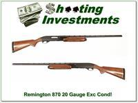 Remington 870 20 Gauge Exc Cond, 28in Mod VR