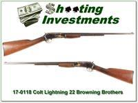 Colt Lightning 22 made in 1899 for Browning Brothers Utah Store!