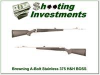Browning A-Bolt Stainless Stalker 375 H&H with BOSS!