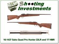 Sako Quad Hunter 2-barrel set 22LR and 17 HMR