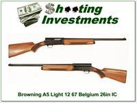 Browning A5 Light 12 67 Belgium 26in IC Blond