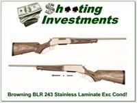 Browning BLR Stainless Laminate 243 Win Exc Cond!