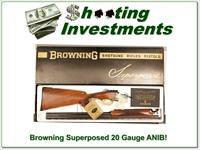 Browning Superposed 20 Gauge 26.5 in Skeet ANIB!