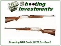Browning BAR Hi-Grade or Grade III 270 Exc Cond!