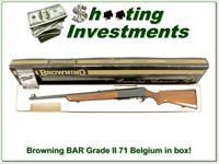 Browning BAR Grade II 71 Belgium 30-06 in box!