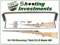 Browning T-bolt 22LR Limited Run Maple Stock ANIB