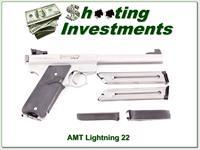 AMT Lightning Stainless 6.5in Target 22LR 3 magazine!