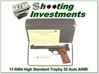 High Standard Supermatic Trophy Military 22LR in box!
