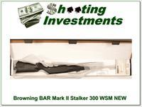 Browning BAR Mark II Stalker 300 WSM Factory NEW!