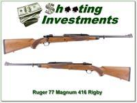 Ruger 77 Magnum Safari in 416 Rigby as new!