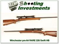 Winchester 70 Pre-64 1953 RARE 220 Swift Heavy Barrel original!