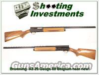 Browning A5 Magnum 20 Gauge 69 Belgium as new