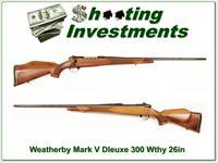 Weatherby Mark Deluxe 300 Wthy Mag 26in Exc Cond!