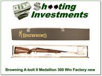 Browning A-bolt II Medallion 300 Win last ones Factory new!